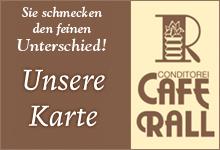 Die Karte vom Cafe Rall in Viernheim